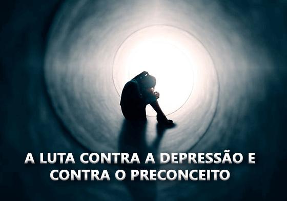 A luta contra a depressão e contra o preconceito.